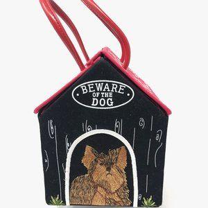 Lulu Guinness Dog House Embroidered Purse